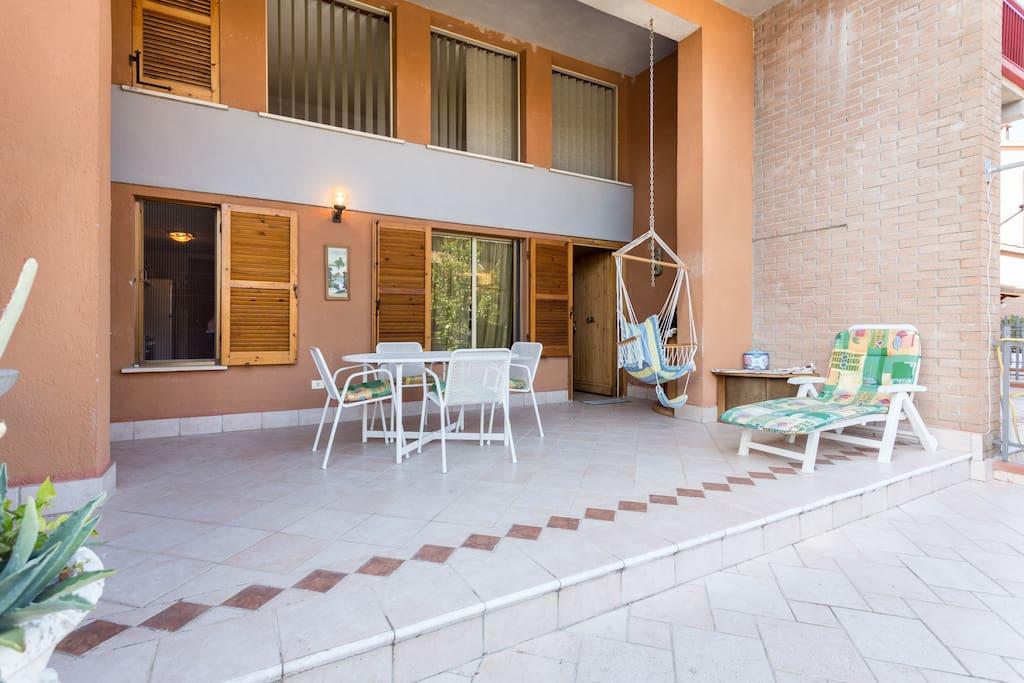 veranda. luminosa e rilassante