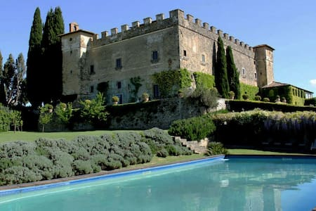 Large historical apartment in the property of a renaissance Castle which still today is an excellent wine farm. Here we produce local wine and olive oil! The area is very suggestive in the heart of Chianti, near to Siena & Florence. Ideal to Relax!