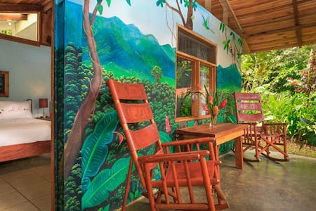 Casitas Tenorio is a unique B and B located on the slopes of Volcan Tenorio near the enchanting Rio Celeste. We have two private cottages set amongst lush tropical gardens. There is lots of birds and animal life. We offer you a personalised service.