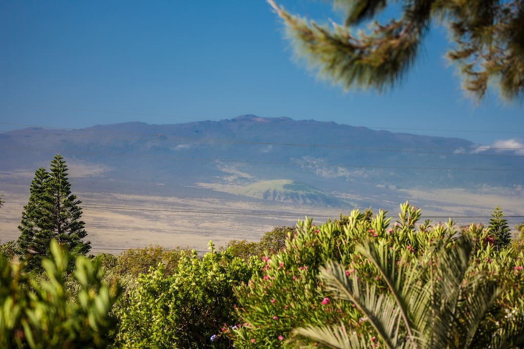 Hualalai Mountain from front lanai