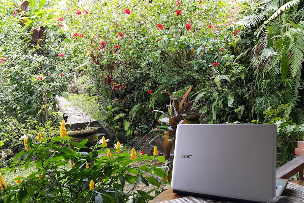 Browse your laptop from your balcony - surrounded by nature