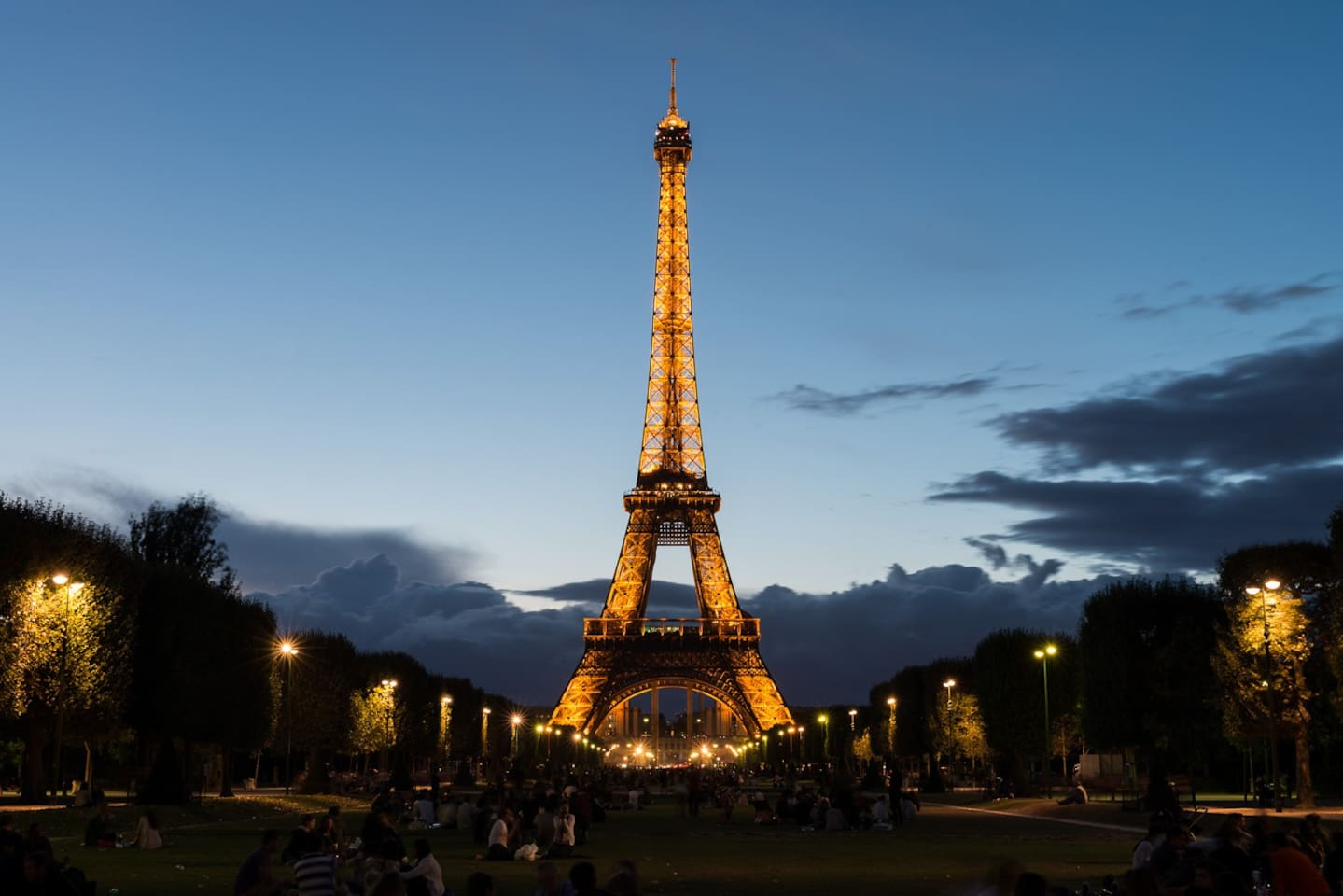 a 2 min walk from the flat during the evening and you can enjoy this gorgeous view. On summer, try to picnic on Champ de Mars in front of the Iron Lady