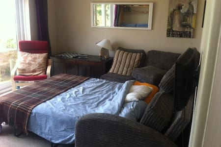 Comfy sofa bed in quirky Totnes. - Totnes - Bed & Breakfast