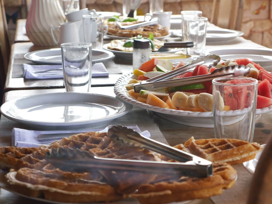 Fresh delicious breakfast served daily.