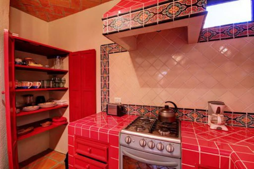 Full, well-appointed kitchen with strong Mexican flavour