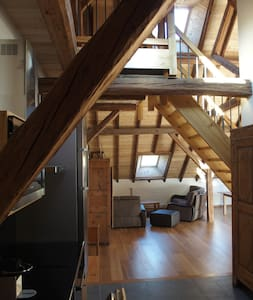 Grange rénovée loft - Le Monêtier-les-Bains - Loft