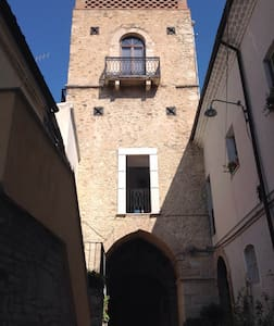 THE GALUPPI TOWER built in 1312 AD in Larino. - Larino