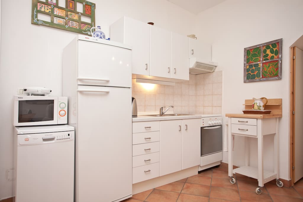 Kitchen with all imaginable equipment