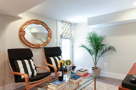 Private suite, modern DC row house