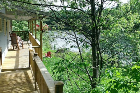 Private, waterfront chalet with spa