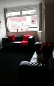 Available to rent is my spare double room. It has a TV and space for clothes. You have access to a shared bathroom, Living Room and Dining/Kitchen.   There is off road parking and a garden should we get some nice weather!  No smoking allowed inside