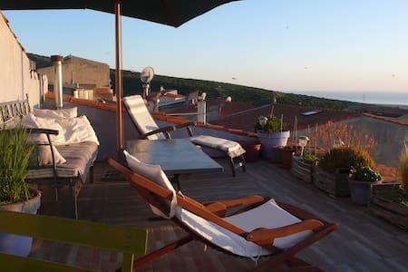 sardinia, terrace sunset on the sea - House