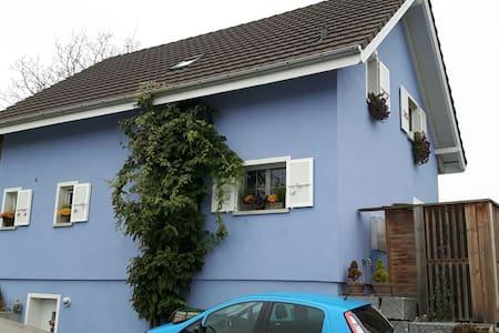 Gemütliches Zimmer im blauen Haus - Biel-Benken