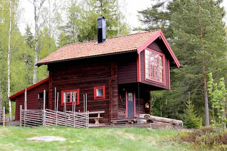 Charming log cabin with beautiful views - Siljansnäs