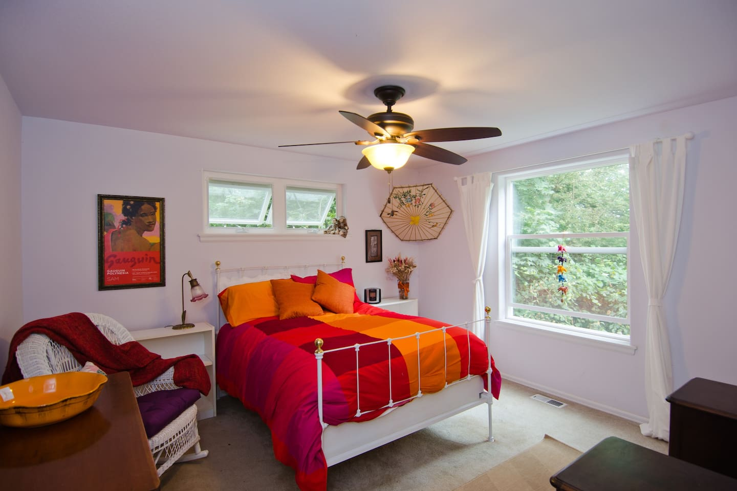 The guest bedroom.  You will love the featherbed!