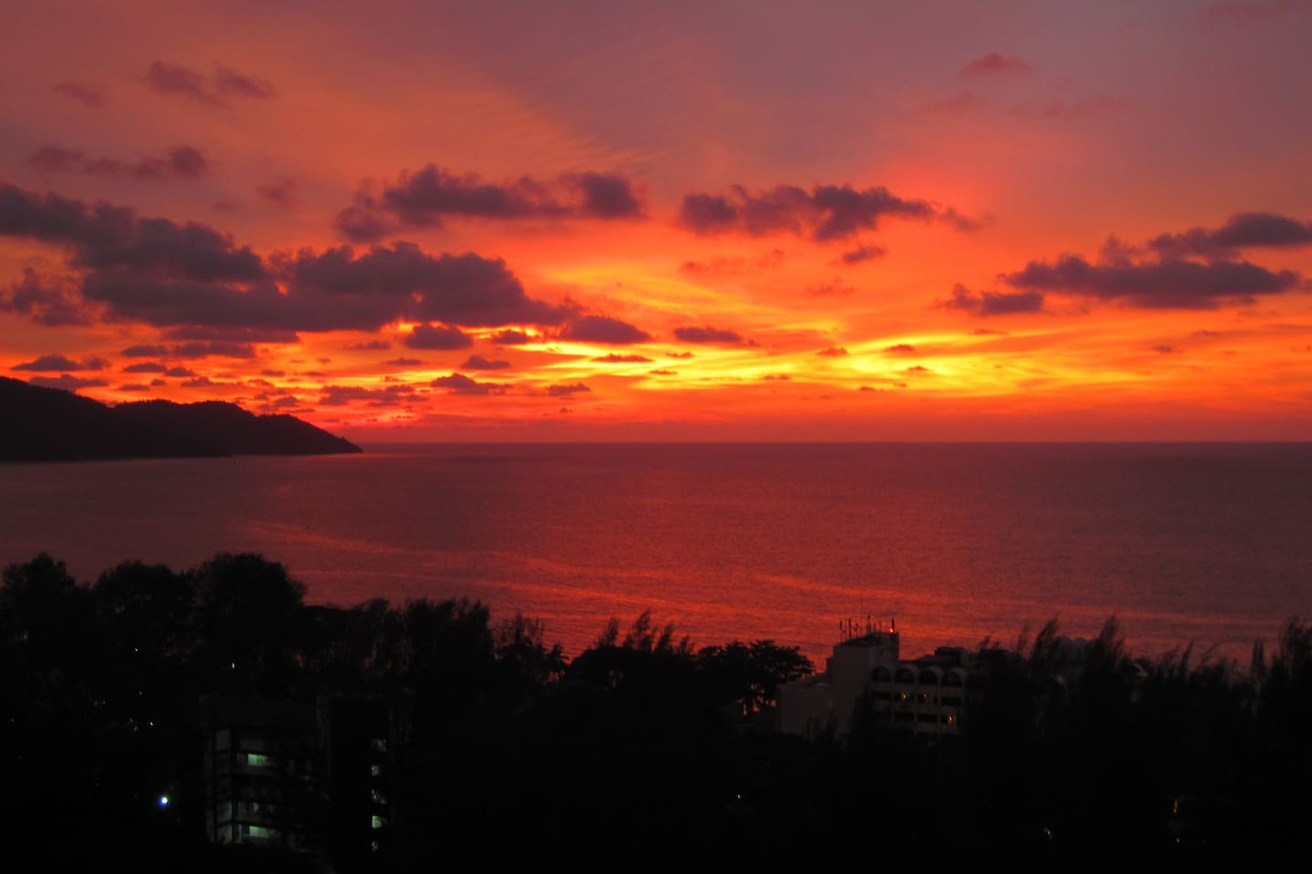 Sunset from Lounge Balcony, West view, Penang National park