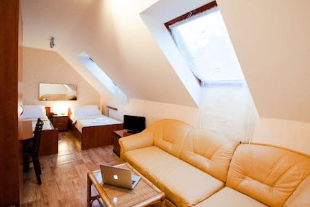 Large city room for up to 4 people - Inap sarapan