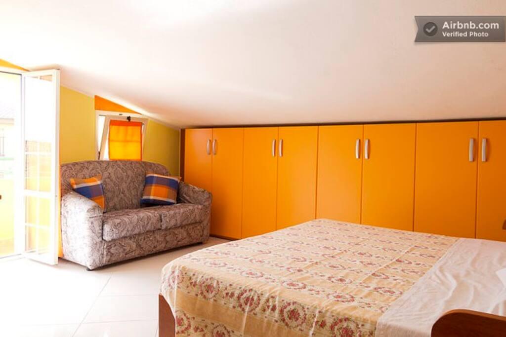 Camera matrimoniale 4 in mansarda con bagno - veranda - tv - wifi - aria condizionata