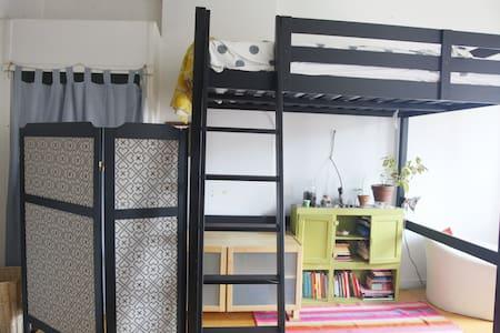 OPEN LOFT BED in nice apt hip area