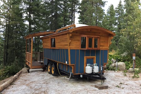 Blue Gypsy Wagon. - Cabin