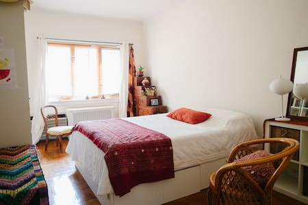 Cozy and roomy bedroom in Brooklyn - F line - Brooklyn - Apartment