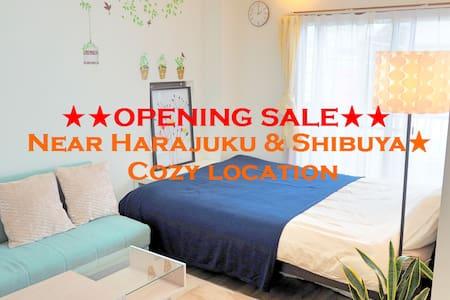 Near Harajuku & Shibuya★Good & Cozy location#D04 - Apartemen