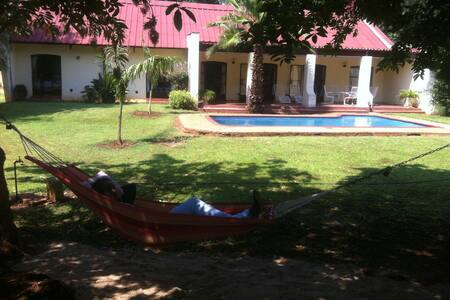 JulesPlace Garden and Pool view - Bulawayo - Dům