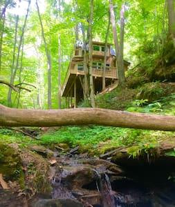 Sugar Creek Treehouse with hot tub - Green Mountain