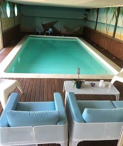 Chambres cosy dans spacieuse maison avec piscine - Chazé-sur-Argos - Hus