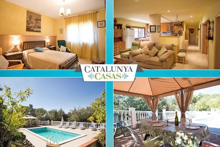 Vacarisses Grande for 16 people with a private pool, 40 minutes from Barcelona and the beach - Barcelona Region