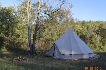 Sibley Tent - On Decking Camping ! - Yourte
