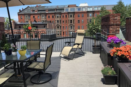 Private Boston-Back Bay Top Floor w/ Private Deck - Lejlighed