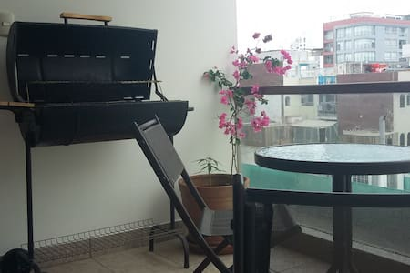 Double Bed & Bathroom in the Best of Miraflores - Miraflores - Condominium