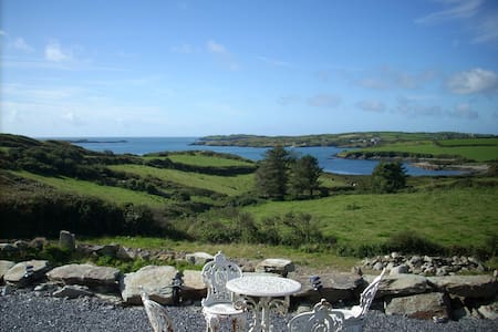 The house has breathtakingly intimate views of the sea. I have access to a private beach. If you want to relax this is the place. If not there are always entertaining activities in Schull and the surrounding villages. I have 3 ensuite bedrooms.