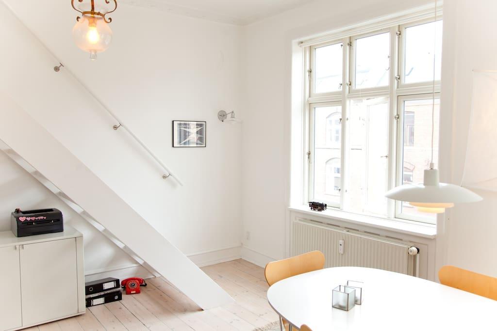 Central Copenhagen Top floor 105m2