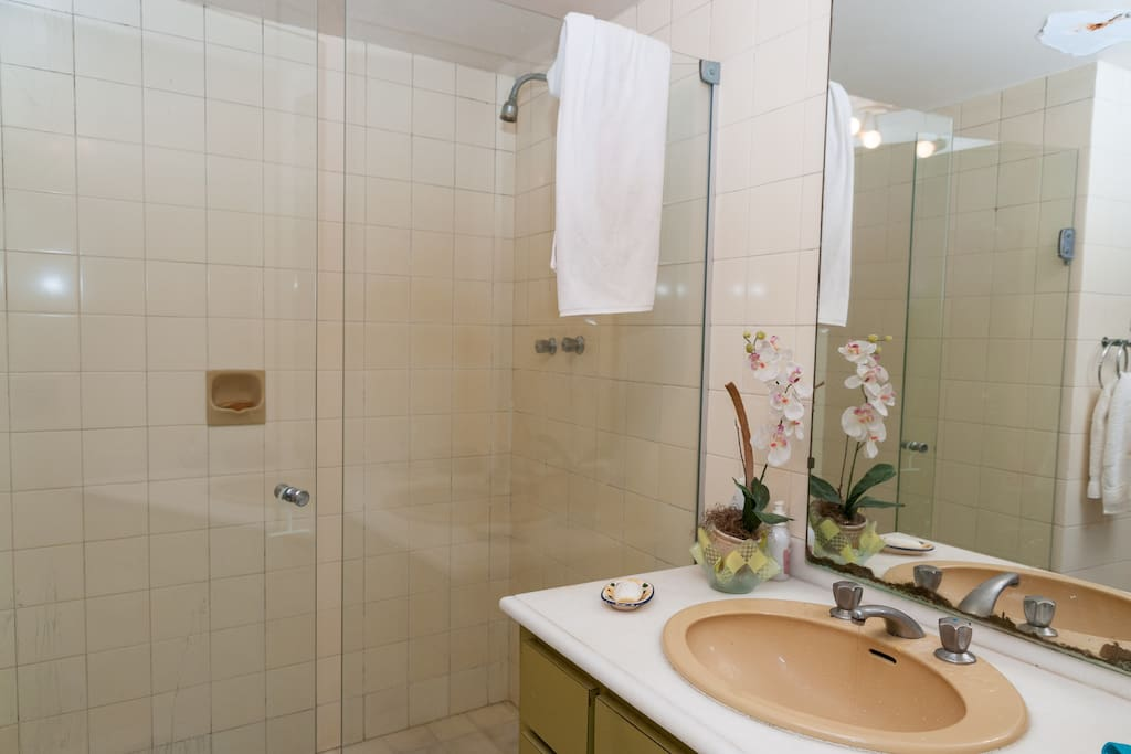 Bathroom in front of the first room