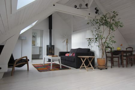 Charming loft-style studio, spacious, very bright. - Huoneisto