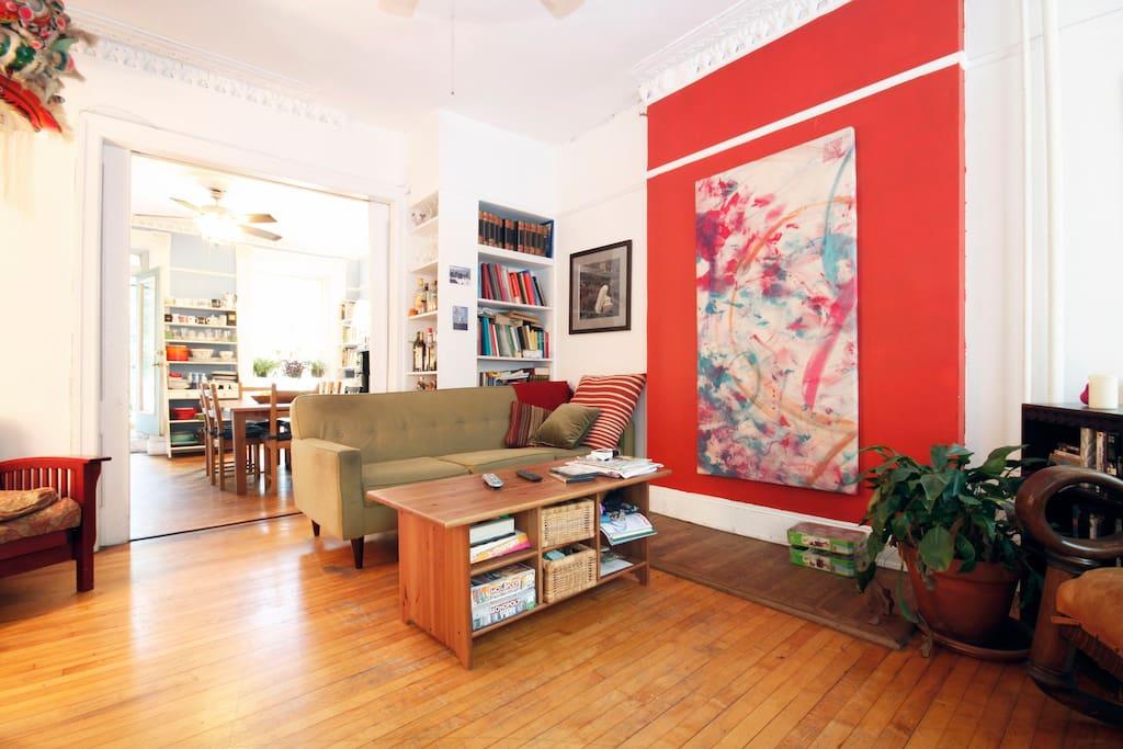 Living Room Cafe Ave U Images