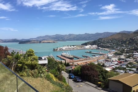 Sun drenched harbour views. - Lyttelton