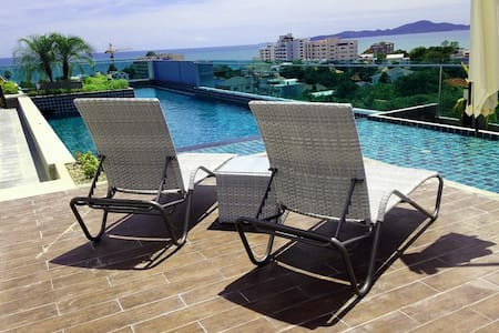 Lovely studio apartment w/rooftop. - Pattaya - Apartment