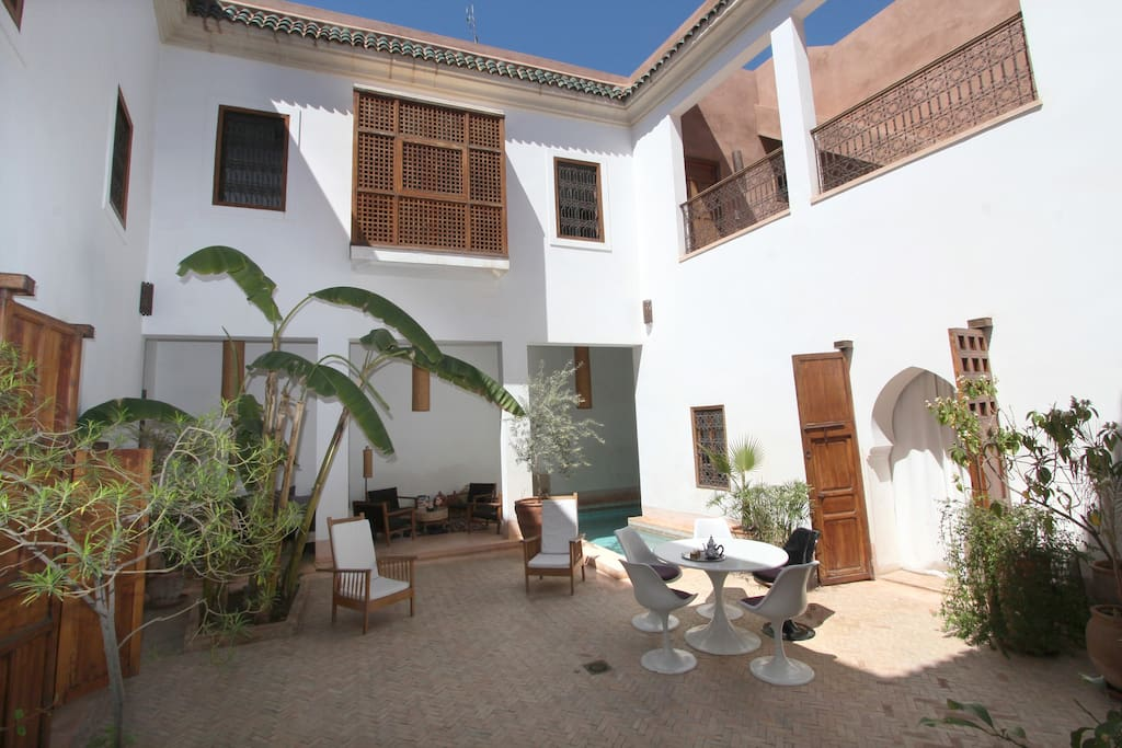 Exceptional double room. Riad pool