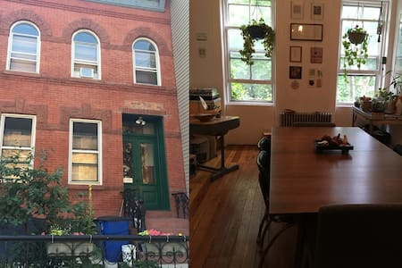 Charming brick brownstone (2nd floor) - Brooklyn - Appartement