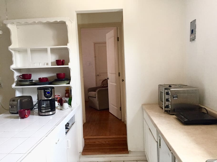 Note addition to a 2nd Bedroom. That can be added at additional rate if available. Counter area has Wolfgang Puck Pressure Oven. + Induction burner. Coffee, Tea, etc.