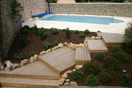 Gite cosy avec piscine - Moulins-le-Carbonnel - Talo