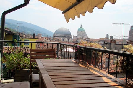 Panoramic attic in Brescia's heart