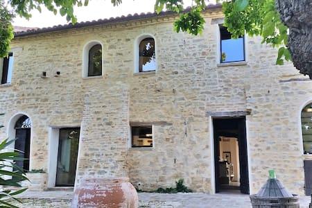 Casa Colognola Rustic Modern Stone Farm with Pool - Cingoli - Villa