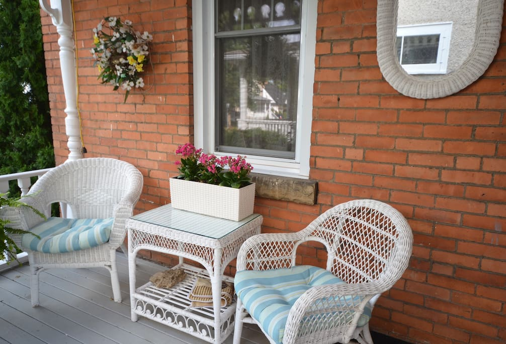 Relax on the front veranda