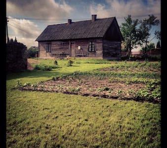 Prawdziwa wiejska chata nad zalewem - Blockhütte