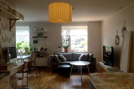 The apartment is located in the city center and has a roof terrace. You'll find yourself close to shopping, restaurants and night clubs and only 15 minutes of walk to the beach.  You share kitchen, livingroom and bathroom with me. Occasionally I re