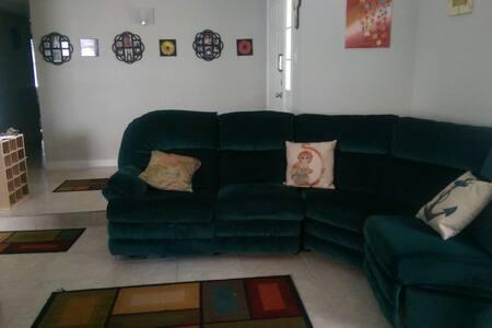 Artistic living area sofa queenbed